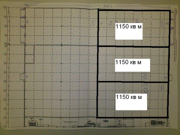 Аренда под склад производство 1150 кв м, 2300 кв м или 3450 кв м возле КАД!