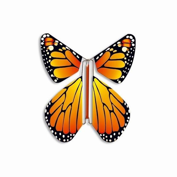 Бабочка вылетают из открытки
