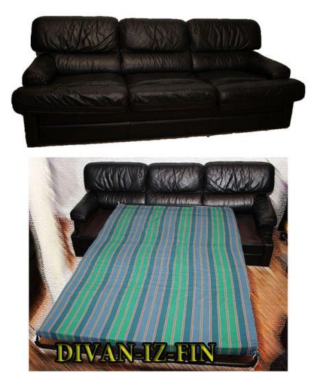 Кожаный диван-кровать ASKO из Финляндии