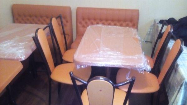 Кухонный гарнитур стол+ стулья+ диван
