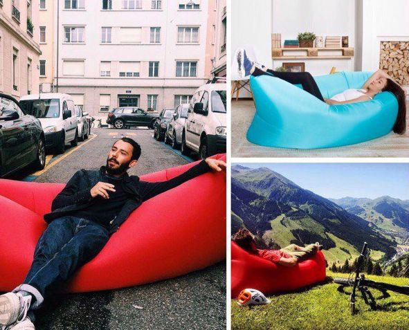 Надувной диван для отдыха и путешествий