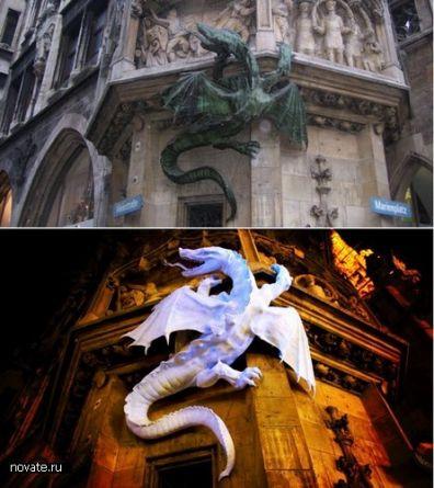 Драконы из металла скульптурные .