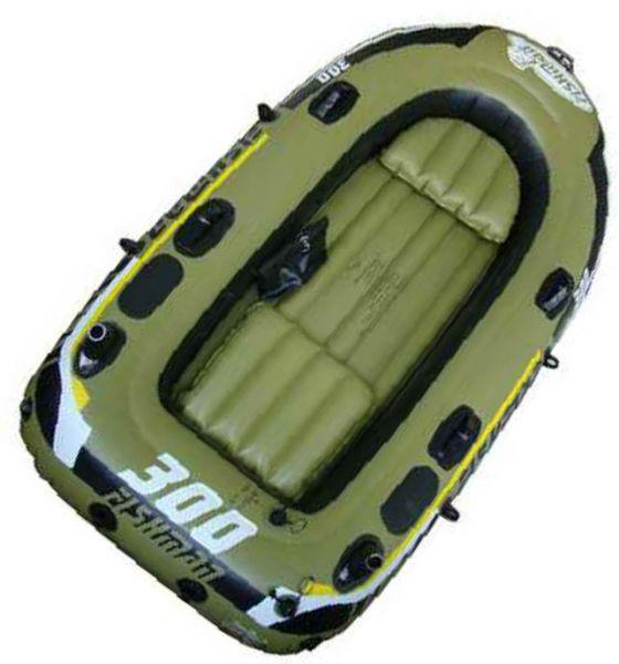 Лодка надувная FISHMAN 300 set (ВЕСЛА и НАСОС в комплекте)