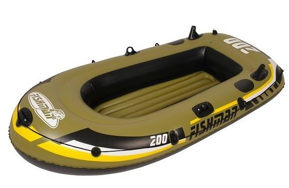 Лодка надувная Fishman 200 set (ВЕСЛА и НАСОС в комплекте)