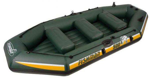 Лодка надувная Fishman II 500 Boat (ВЕСЛА и НАСОС в комплекте)