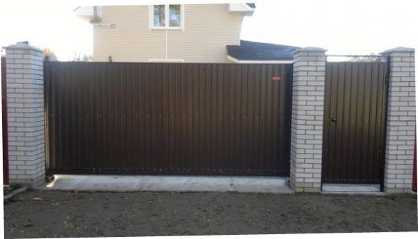 Откатные ворота 5, 5*2, 0 м