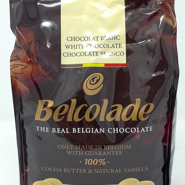 Шоколад 28% Белый Бланш Селексьон в таблетках.  Belcolade.  Пакет 500гр