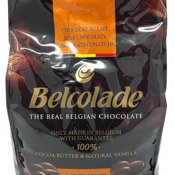 Шоколад 35% Молочный Лэ Селексьон в таблетках.  Belcolade.  Пакет 500гр