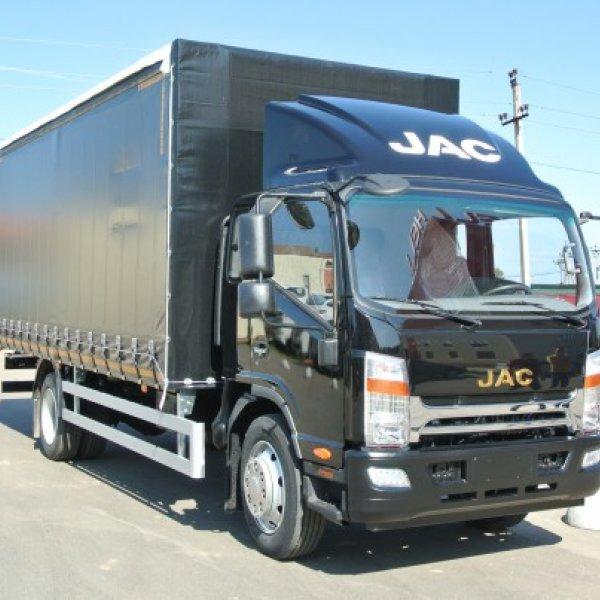 Бортовой грузовик c тентом JAC N120