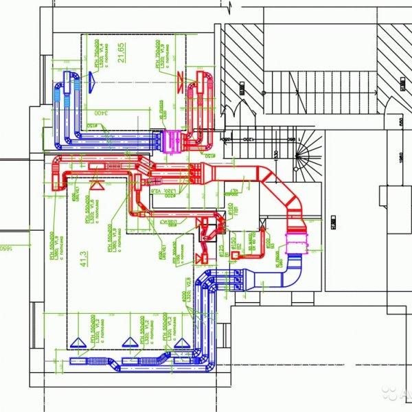 Монтаж вентиляции под ключ + схема