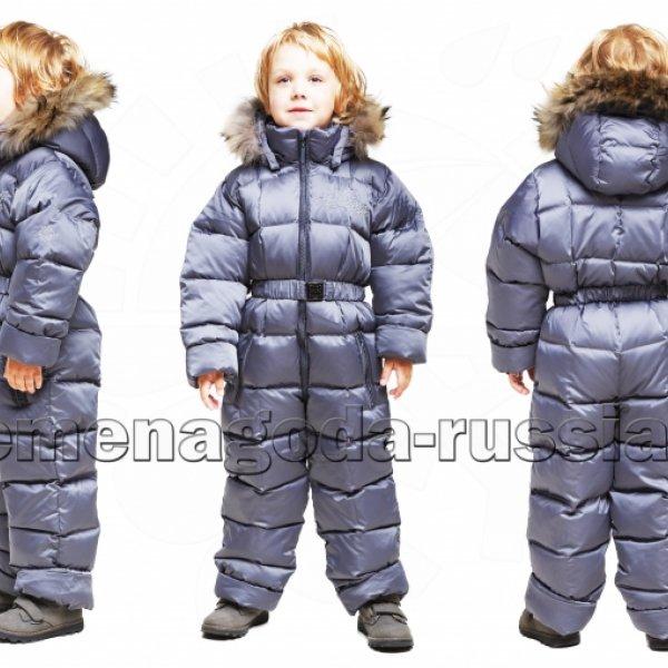 Зимний детский комбинезон на пуху «Северное сияние» 3 цвета