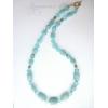 авторское ожерелье из натурального  голубого кварца