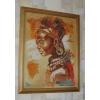 """Картина, вышитая крестом """"Африканская красавица"""""""