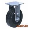 Колесо большегрузное неповоротное черная резина 125 мм