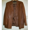 Кожаный женский пиджак