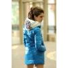 Новая женская куртка голубая утепленная, размер 44-46.