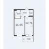 Продается квартира в новостройке 40,67 кв.м.