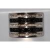 Продам серебряное кольцо с черными и белыми бриллиантами