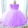 Сиреневое нарядное  платье для девочки на рост 130 см.