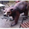 скульптуры животных , птиц , мифических существ , рыцарей , итп