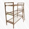 Кровати металлические с деревянными спинками для пансионата, кровати двухъяурсные для строителей, лагеря, турбазы