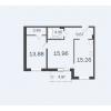 Продается квартира в новостройке 62,14 кв.м.