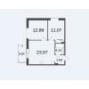 Продается квартира в новостройке двухкомнатная 58 м